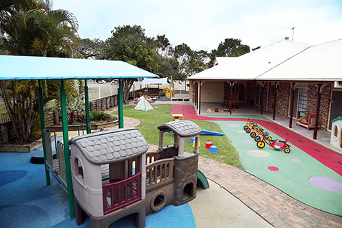 Bay House Early Education outdoor play area