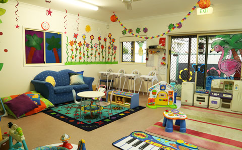 nursery play equipment at Bay House